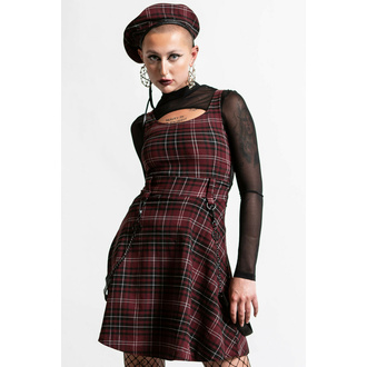 robe pour femme KILLSTAR - crash Skater - Blood Tartan, KILLSTAR