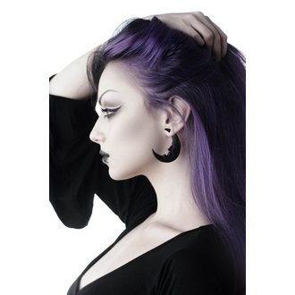 Boucles d'oreilles KILLSTAR - Crescent moon - NOIR, KILLSTAR