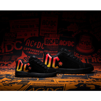 Chaussures DC - AC / DC - HIGHWAY TO HELL - NOIR / NOIR / ORANGE, DC, AC-DC
