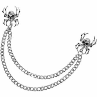 chaîne double punaises KILLSTAR - Mortel Collier - Argent, KILLSTAR
