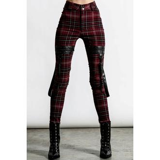 pantalons pour femmes KILLSTAR - Dead Resistance - Jean skinny - Blood Tartan, KILLSTAR
