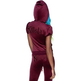 Sweat-shirt pour femme KILLSTAR - Velours Dee-Lux - Bordeaux, KILLSTAR