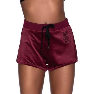 Shorts pour femmes KILLSTAR - Dee-Lux Velvet - Bordeaux, KILLSTAR