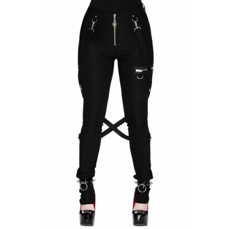 Pantalon pour femmes KILLSTAR - Def Léopard - NOIR, KILLSTAR