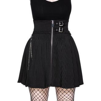 Jupe pour femmes KILLSTAR -The Devil Wears Stripes - Rayure fine, KILLSTAR