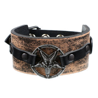 Bracelet Baphomet - brown, JM LEATHER