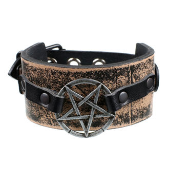 Bracelet Pentacle - brown, JM LEATHER