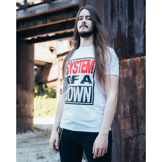 T-shirt pour hommes System Of A Down - Triple Stack - WHT - ROCK OFF, ROCK OFF, System of a Down