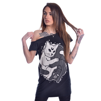 t-shirt pour femmes - YING YANG KITTY OFF SHOULDER - HEARTLESS, HEARTLESS