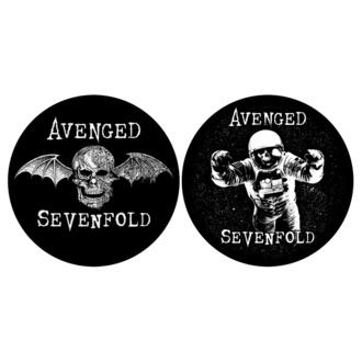 Feutrine pour platines (ensemble 2pcs) AVENGED SEVENFOLD - DEATH BAT / ASTRONAUT - RAZAMATAZ, RAZAMATAZ, Avenged Sevenfold