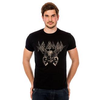 tričko pánské Def Leppard - Flying Skulls - Black - HYBRIS, HYBRIS, Def Leppard