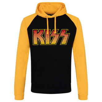 sweat-shirt avec capuche pour hommes Kiss - Distressed Logotype - HYBRIS, HYBRIS, Kiss