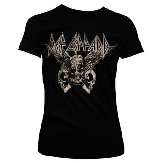 tee-shirt métal pour femmes Def Leppard - Flying Skulls - HYBRIS, HYBRIS, Def Leppard