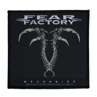 Patch FEAR FACTORY - MECHANIZE - RAZAMATAZ, RAZAMATAZ, Fear Factory