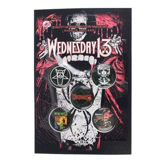Badges Wednesday 13 - Condolences - RAZAMATAZ, RAZAMATAZ, Wednesday 13