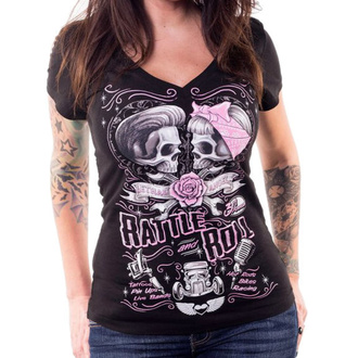 t-shirt hardcore pour femmes - RATTLE AND ROLL - LETHAL THREAT, LETHAL THREAT