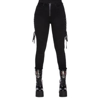 Pantalon pour femmes KILLSTAR - Get Laced Skinny Jeans, KILLSTAR