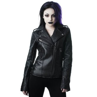 veste en cuir pour femmes - Graveyard Shift Biker - KILLSTAR, KILLSTAR