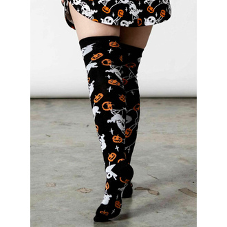 Chaussettes hautes KILLSTAR - Haunted Pumpkin Knee-high - Noir, KILLSTAR