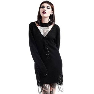 chandail pour femmes KILLSTAR - Hell In Harlow Distress Knit - Noir, KILLSTAR