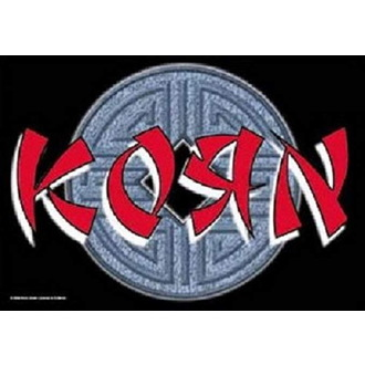Drapeau Korn - Ball Logo, HEART ROCK, Korn