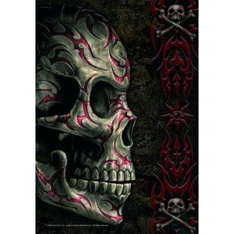Drapeau Spiral - Tatoo Skull, SPIRAL