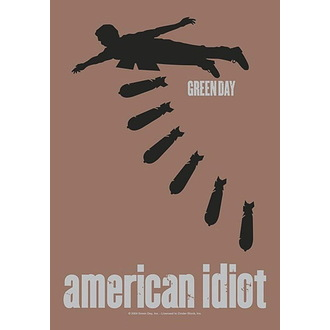 Drapeau Green Day - American idiot Bombs, HEART ROCK, Green Day