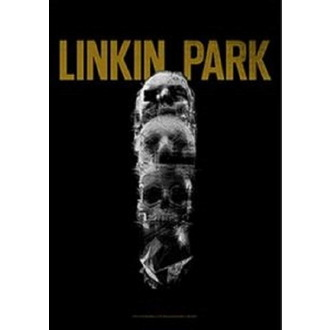 Drapeau Linkin Park - Living - Crâne Totem, HEART ROCK, Linkin Park