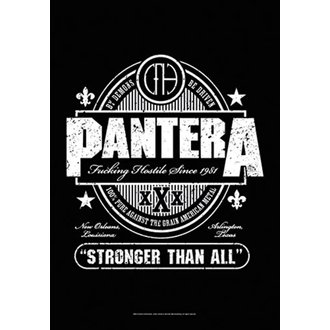 Drapeau Pantera - Beer Label, HEART ROCK, Pantera