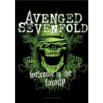 Drapeau Avenged Sevenfold - Welcome to the Family, HEART ROCK, Avenged Sevenfold