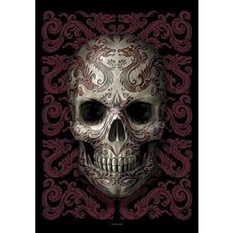 Drapeau Anne Stokes - Oriental Skull, ANNE STOKES