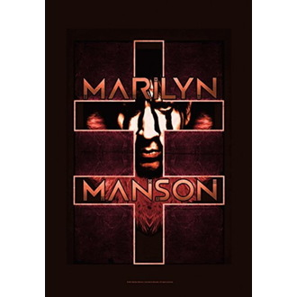 Drapeau Marilyn Manson - Double Cross, HEART ROCK, Marilyn Manson