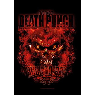 Drapeau Five Finger Death Punch - Hell to Pay, HEART ROCK, Five Finger Death Punch