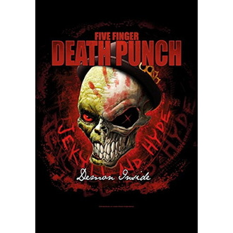 Drapeau Five Finger Death Punch - Dapper, HEART ROCK, Five Finger Death Punch