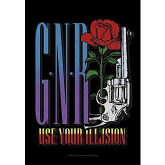 Drapeau Guns N' Roses - Gun, HEART ROCK, Guns N' Roses