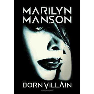 Drapeau Marilyn Manson - Born Villain, HEART ROCK, Marilyn Manson