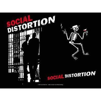drapeau Social Distorsion - Taule, HEART ROCK, Social Distortion