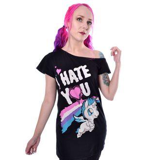 tričko dámské Cupcake Cult - HATE YOU - BLACK, CUPCAKE CULT