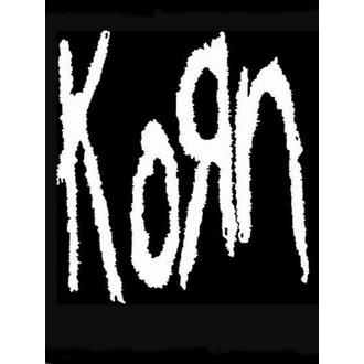 drapeau KORN - Band Logo, HEART ROCK, Korn
