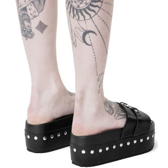 tongs pour femmes - I HEART METAL SLIDES - KILLSTAR