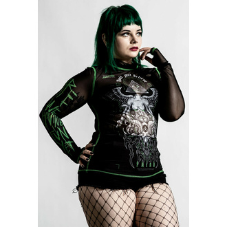 T-shirt à manches longues pour femmes KILLSTAR - Illuminated Mesh - Noir, KILLSTAR