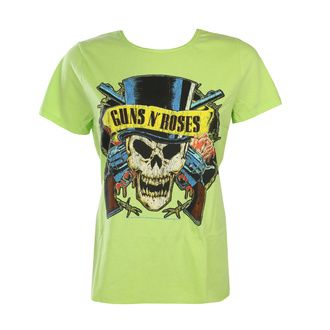 T-shirt Guns N' Roses pour femmes - DEATH SKULL - OCEAN COLOR GREEN - AMPLIFIED, AMPLIFIED, Guns N' Roses
