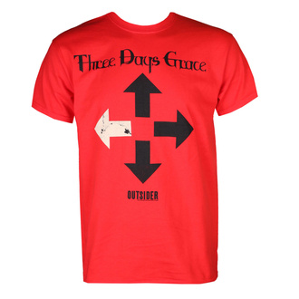 T-shirt THREE DAYS GRACE pour hommes- OUTSIDER (RED) - PLASTIC HEAD, PLASTIC HEAD, Three Days Grace