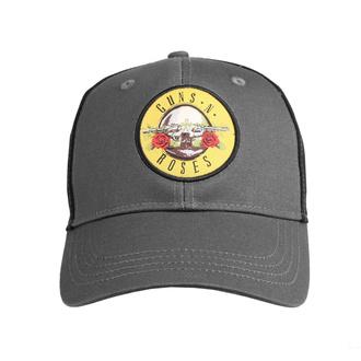 Casquette Guns N' Roses - Circle Logo - GRIS / NOIR - ROCK OFF, ROCK OFF, Guns N' Roses