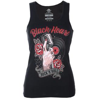 Top pour femmes BLACK HEART - ROCK N ROLL - NOIR - 011-0050-BLK
