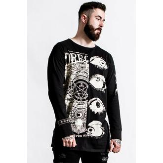 t-shirt pour homme manches longues KILLSTAR - Insomnia Longline Split- Top - noir, KILLSTAR