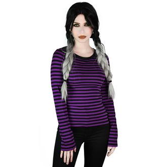 T-shirt a manches longues pour femmes KILLSTAR - Jett - PRUNE, KILLSTAR