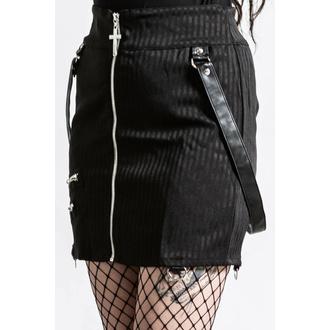 jupe pour femmes KILLSTAR - katy Coffin Mini - Rayure fine, KILLSTAR