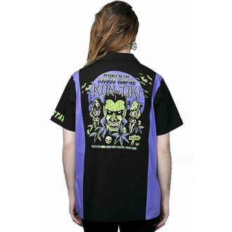 chemise pour homme KILLSTAR - Kon-Tiki - Noir, KILLSTAR
