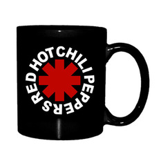 Mug Red Hot Chili Peppers - Astrisk Logo - Noir, NNM, Red Hot Chili Peppers